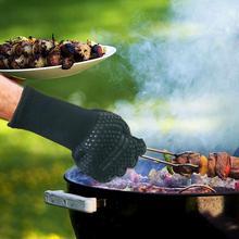 1/2 шт. барбекю перчатки для гриля термостойкие толстые силиконовые Пособия по кулинарии для выпечки для барбекю рукавицы блюдо моющиеся перчатки Кухня инструменты