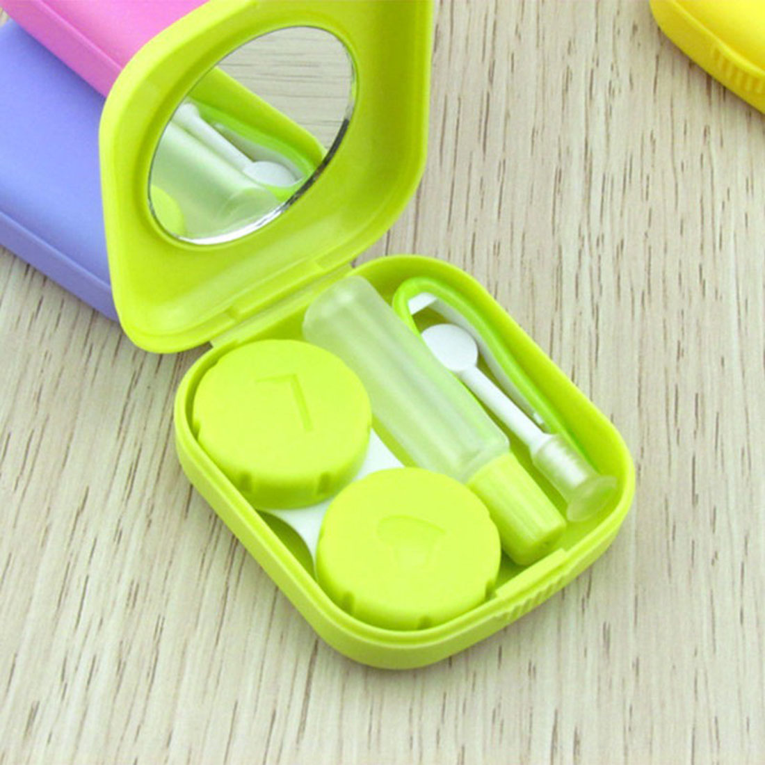Cute Contact Lenses Box Lens Case For Eyes Care Kit Candy Color Glasses Case Holder Container Gift