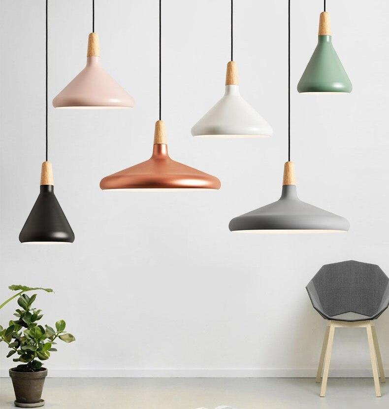 Скандинавский белый черный деревянный подвесной светильник для ресторана, бара, прикроватные кухонные лампы, японский минималистичный Сов