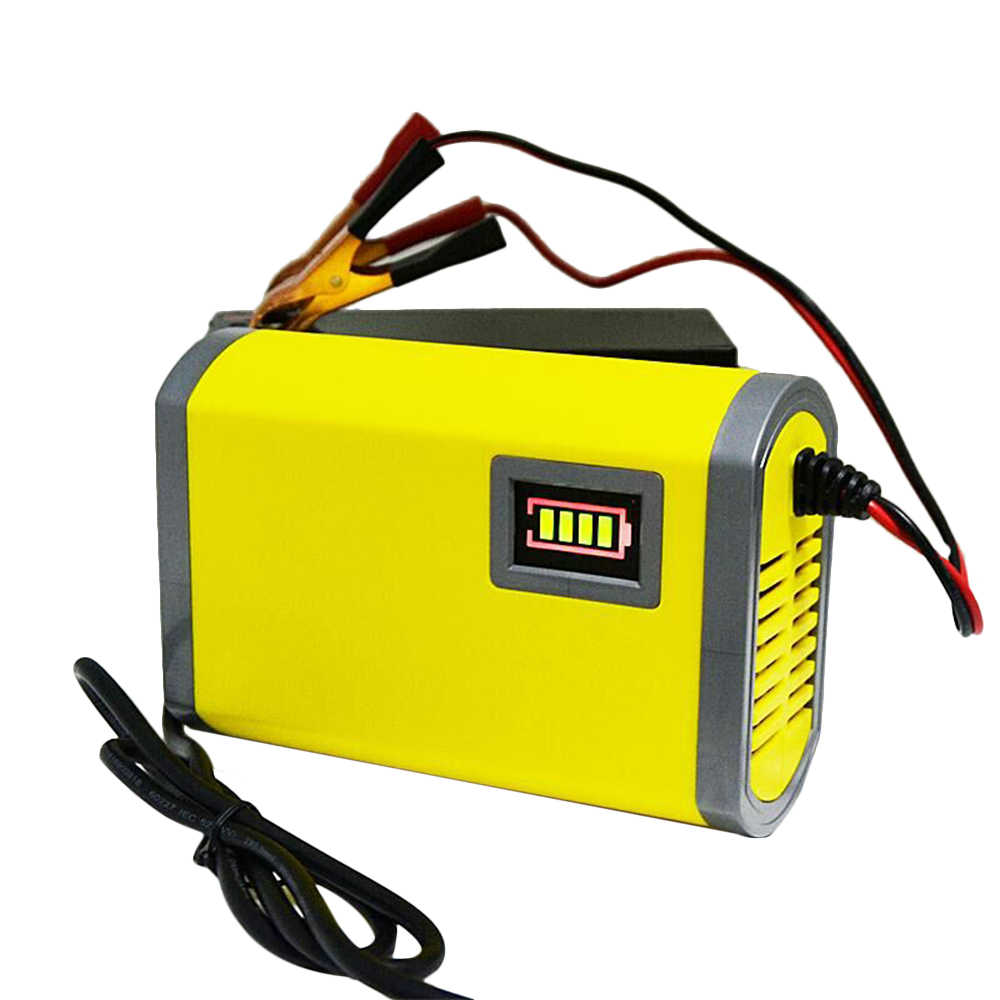 12V 2A Smart Car Battery Charger Automatic Auto Motorcycle Lead Acid AGM GEL Moto Intelligent LED Display EU/US Plug