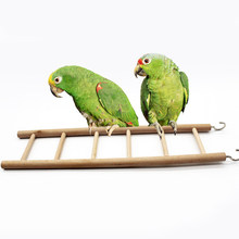 1PC Convinient Slightly Parrot Swing Stairs Parrots Ladder Wooden Swing Bird Toy Pet Supplies(China)
