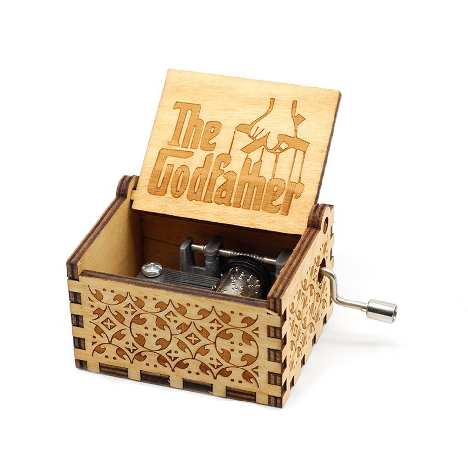 40 pcs Music Box Game of Thrones Antique Carved Wooden Hand Crank Christmas Gift Birthday Gift