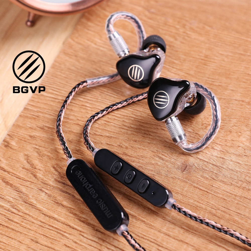 BGVP M1 Headset Bluetooth 4 1 APTX Cable MMCX Line HiFi In ear Wire Single Crystal