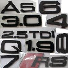 Хорошее качество Черный Numer 0 1 2 3 4 5 6 7 8 и письмо A D F I L S Q T Mark для автомобиля Audi Замена Наклейка Магистральные значок