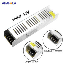 AC 220 v à 12 v transformateur d'alimentation Led pilote 12 v 100 w Ac Dc Alimentation 12 v Dc Alimentation 12 V volts(China)