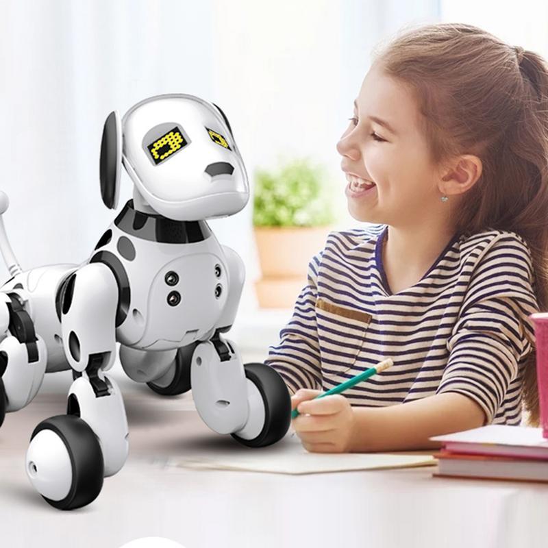 Nouveau Cadeau D'anniversaire RC Zoomer Chien 2.4g Sans Fil Télécommande Intelligente Chien Électronique Pet Éducation Enfants de Jouet Robot jouets
