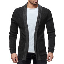 Mens Sweaters 2019 New Cardigan Men Fashion Solid Color Homme Man Autumn Winter Casual Trend Comfortable Men Sweaters(China)