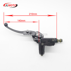 Image 2 - Left Hand Rear Master Cylinder 7/8 Handlebar Hydraulic Brake Lever With Parking Brake & Stop Switch Fit For ATV Quad Bike Parts