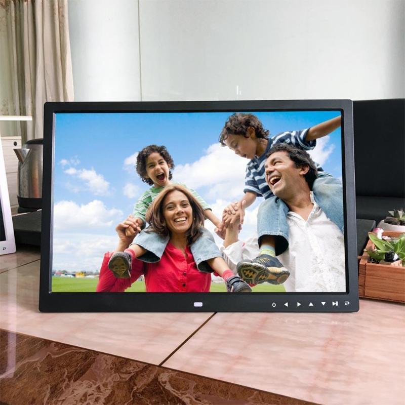 VODOOL marco de fotos Digital de 17 pulgadas HD electrónicos álbum toque los botones Multi-idioma Marco de imagen Digital MP3 Video de música jugador
