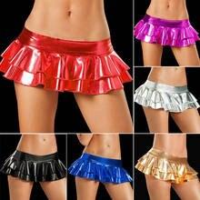 Venta caliente Sexy mujeres metálico brillante Bodycon Mini vestido de  fiesta Clubwear corto faldas de un tamaño e2c71af92482