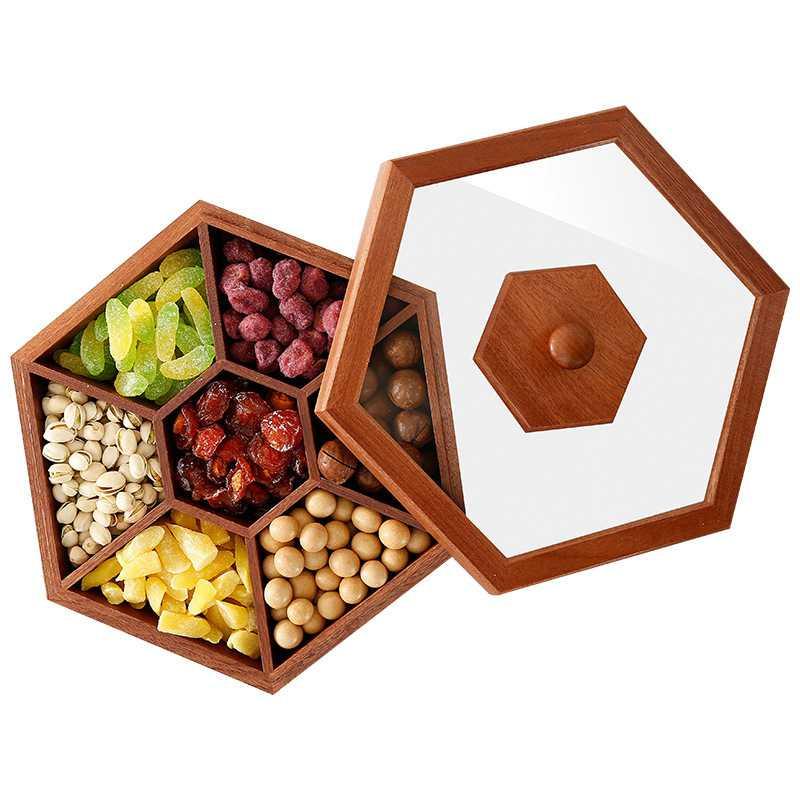 LUDA Wooden Box Candy Box Dried Fruit Snacks Desktop Box Solid Wood Sugar Wedding Gift BoxLUDA Wooden Box Candy Box Dried Fruit Snacks Desktop Box Solid Wood Sugar Wedding Gift Box