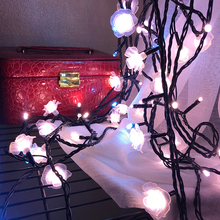 Rose flower fairy light - 32.8 in. length girl blog decoration light flash christmas light indoor led string wedding decoration blog