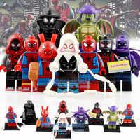 9 Pcs/Lot Marvel figurine Super héros Spider-Man Noir Gwen Ham Spiderman blocs de construction jouets pour enfants WM6052