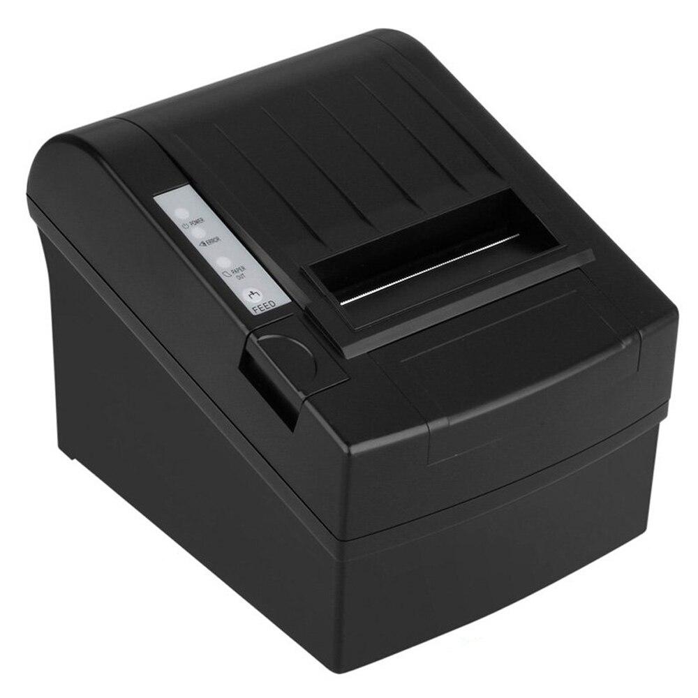 Imprimante à reçu thermique complète avec accessoires imprimante à reçu 80mm imprimante thermique fonction de coupe automatique 300mm/sec noir