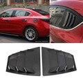 Hinten Fenster jalousie Seite Hochwertige Lamellen Vent Panel Trim Für Mazda 3 Axela 4Dr Limousine 2014 zu 2018-in Chrom-Styling aus Kraftfahrzeuge und Motorräder bei