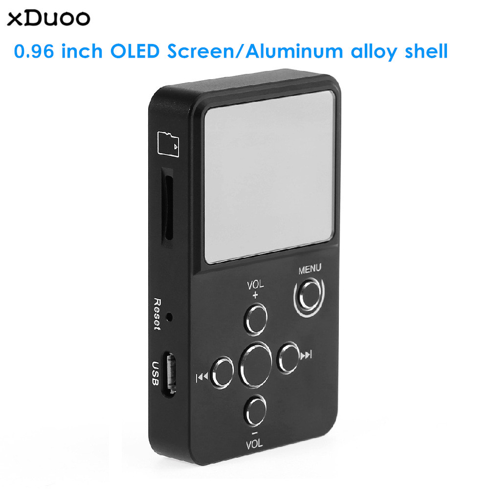 Xduoo X2 Hifi Digital Audio Player Mp3 Mp4 Mit 0,96 Inch Oled Bildschirm Tf Karte Slot Aluminium Legierung Gehäuse Clear-Cut-Textur Mp4 Player
