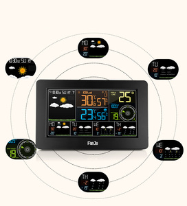 Image 3 - FanJu FJW4 Wifi Weather Station Wall Digital Alarm Clock Thermometer Hygrometer Future Weather Forecast Wind Direction Barometer