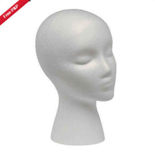 1 個 Tvn モデル帽子かつらディスプレイスタンドラック白ミニチュア置物