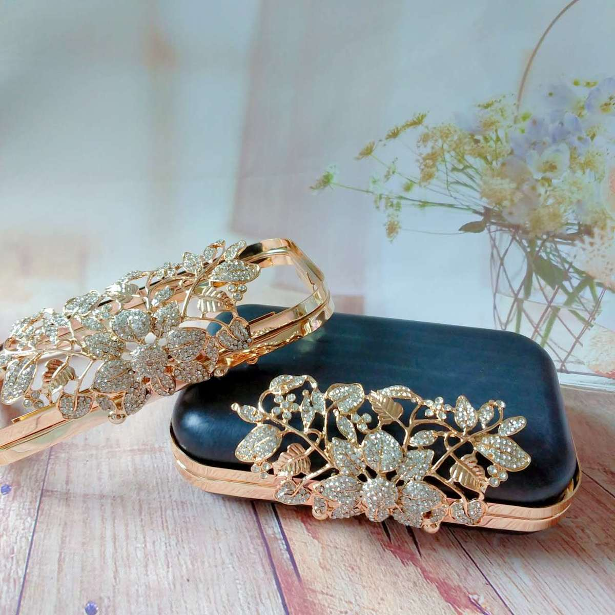 Manual Package Export Gold DIY Leaf Case The Golden Mouth Is Shallow. Golden Silver Leaf Full Package Send Paper Type Pattern