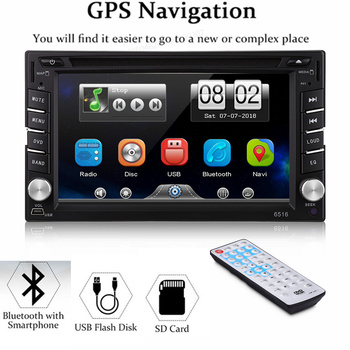 """Double 2 DIN HD 6.2"""" Touch Screen Car DVD Player GPS Sat Nav Stereo Radio Car Multimedia Player With FM AM MP4 MP5 Player"""