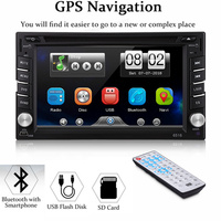 Double 2 DIN HD 6.2 Touch Screen Car DVD Player GPS Sat Nav Stereo Radio Car Multimedia Player With FM AM MP4 MP5 Player