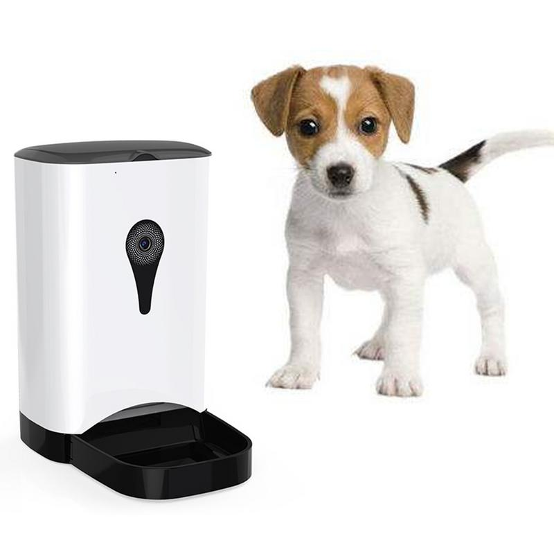 Pet Intelligent Automatic Feeder with WiFi Remote Control with Video Monitors Rechargeable Suitable for Dogs CatsPet Intelligent Automatic Feeder with WiFi Remote Control with Video Monitors Rechargeable Suitable for Dogs Cats