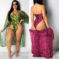 leopard Printing sexy jumpsuit Suit bodysuit women rompers womens jumpsuit body femme combinaison femme summer two piece set