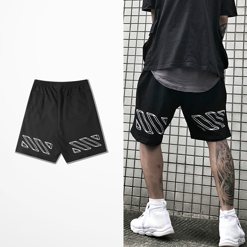 Fashion Europe And American Hip Hop Shorts Men Skateboard Hip Hop High Street Dance Shorts Male Kanye West Haren justin Bieber