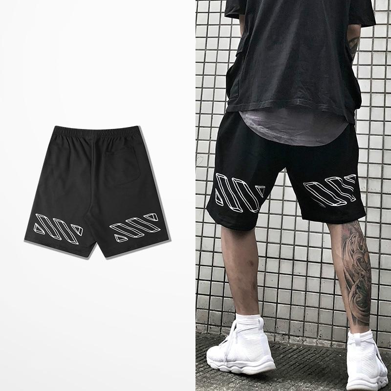 Fashion Europe And American Hip Hop Shorts Men Skateboard Hip Hop High Street Dance Shorts Male Kanye West Haren Justin Bieber