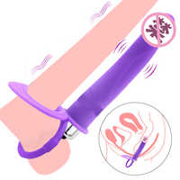 Double Penetration Vibrator Penis Strapon Dildo Vibrating jelly, Strap On Penis Anal Plug for Man, Adult Sex Toys for Beginner