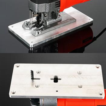 Aluminiowa płytka stołowa routera ze śruby mocujące do stołów do obróbki drewna Router płyta stołowa do Jig piła narzędzia do obróbki drewna tanie i dobre opinie Aluminum Router Table Insert Plate
