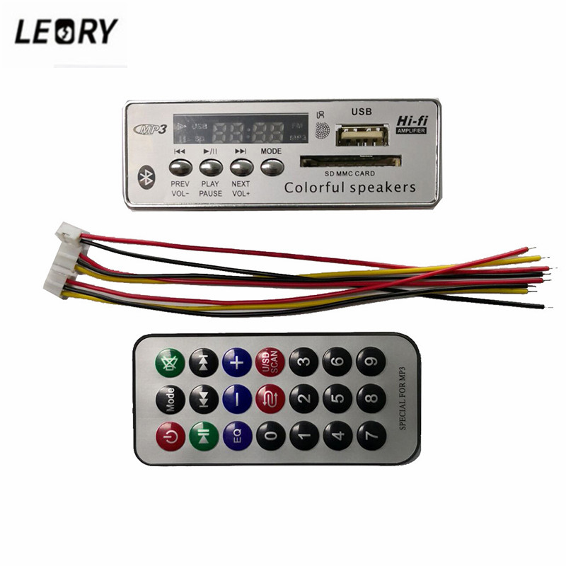 LEORY DC 12V 5V MP3 WMA Decoder Board Wireless bluetooth 5 0 Audio Module USB FM TF Radio For Car MP3 Accessories MP3 Player