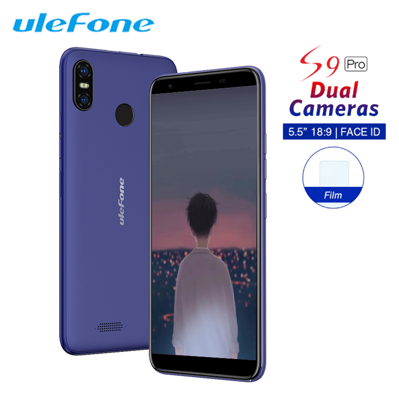 Ulefone S9 Pro Android 8.1 Mobile Phone 5.5 Inch 18:9 MTK6739 Quad Core 2GB RAM 16GB ROM 13MP+5MP Dual Rear Camera 4G Smartphone