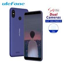 Ulefone s9 pro android 8.1 telefone móvel 5.5 Polegada 18:9 mtk6739 quad core 2 gb ram 16 gb rom 13mp + 5mp câmera traseira dupla 4g smartphone