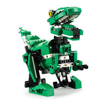2in1 Crocodile Dinosaur Building Blocks set with Sound Ifrared Sensing Motor Bricks Suitable for Legoes Toys Gift for Kids boys(China)