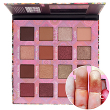 ICYCHEER Glitter Eyeshadow Palette Shimmer Shining Water Proof Metallic Eye Shadow Cosmetic Nude