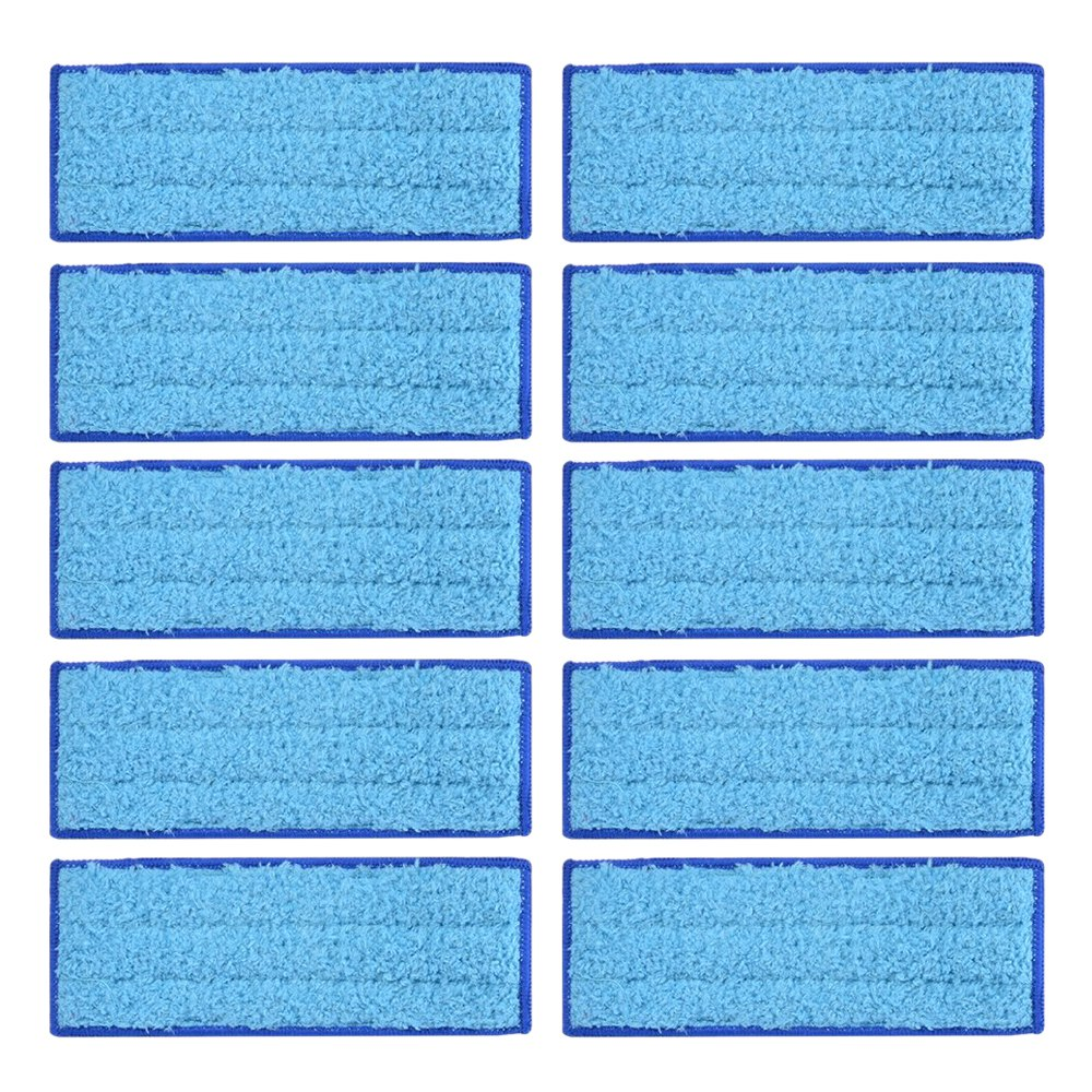 10Pcs Microfiber Wet Cloth Mopping Pads Washable Reusable Replacement For Irobot Braava Jet 240/241 Cleaner Robot 18*7cm