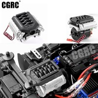 Simulate F11 V8 5.0 Engine Radiator Double Fan For 1/10 RC Crawler Car TRX4 Defender Bronco AXIAL SCX10 RC4WD D90 D110