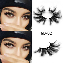 natural Thick  long 25mm mink false eyelashes 6D messy cross Makeup Beauty Extension Tools Wimpers