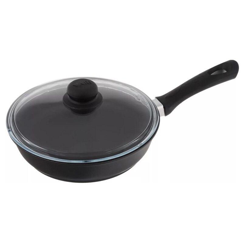 Сковорода VARI, NATURА, 28 см, черный, с крышкой