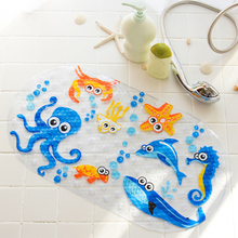 Anti-Slip PVC Bath Mats With Sucker Cute Cartoon Bathroom Carpet Shower Pad Soft Massage Pad for Kid Multi-Color Bath Mats cute cartoon character note pad with keychain and strap color assorted