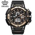 Мужские модные наручные часы SMAEL  роскошные мужские аналоговые электрические кварцевые цифровые наручные часы в стиле милитари для занятий...