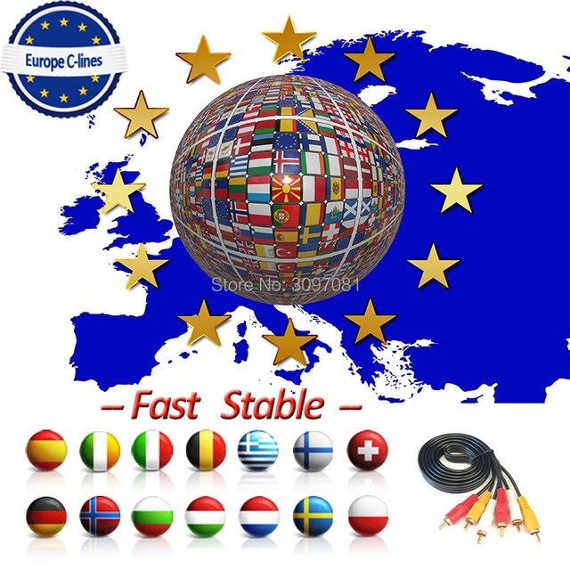 2019 משלוח לוח CCcam קליין עבור 1 2 שנה 6 7 8 אירופה תמיכה לווין טלוויזיה מקלט GTmedia V8 נובה freesat V7 Ccam איטליה