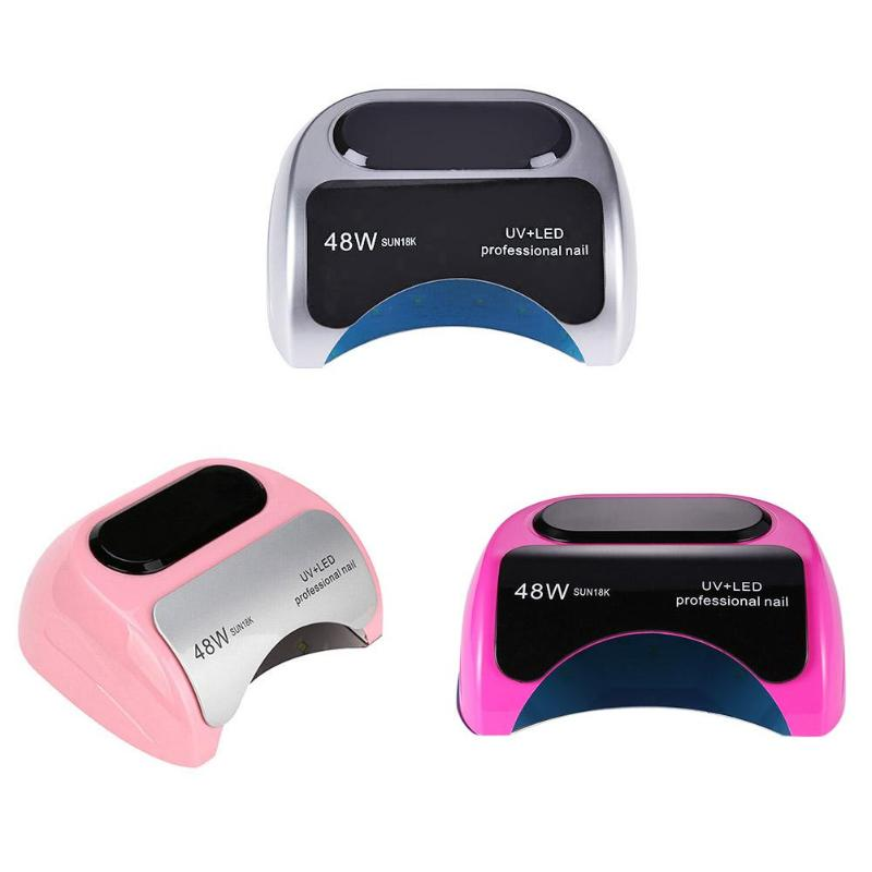 24W/48W UV LED Lamp Nail Dryer SUN 18K Nail Lamp UV Lamp for Nail Machine Nail Gel Polish Curing 10s/30s/60s Timer LCD display24W/48W UV LED Lamp Nail Dryer SUN 18K Nail Lamp UV Lamp for Nail Machine Nail Gel Polish Curing 10s/30s/60s Timer LCD display