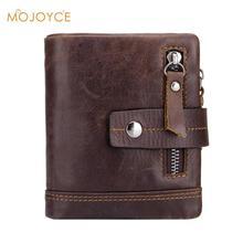 BULLCAPTAIN Genuine Leather Men's Wallet Bifold Purses Multi
