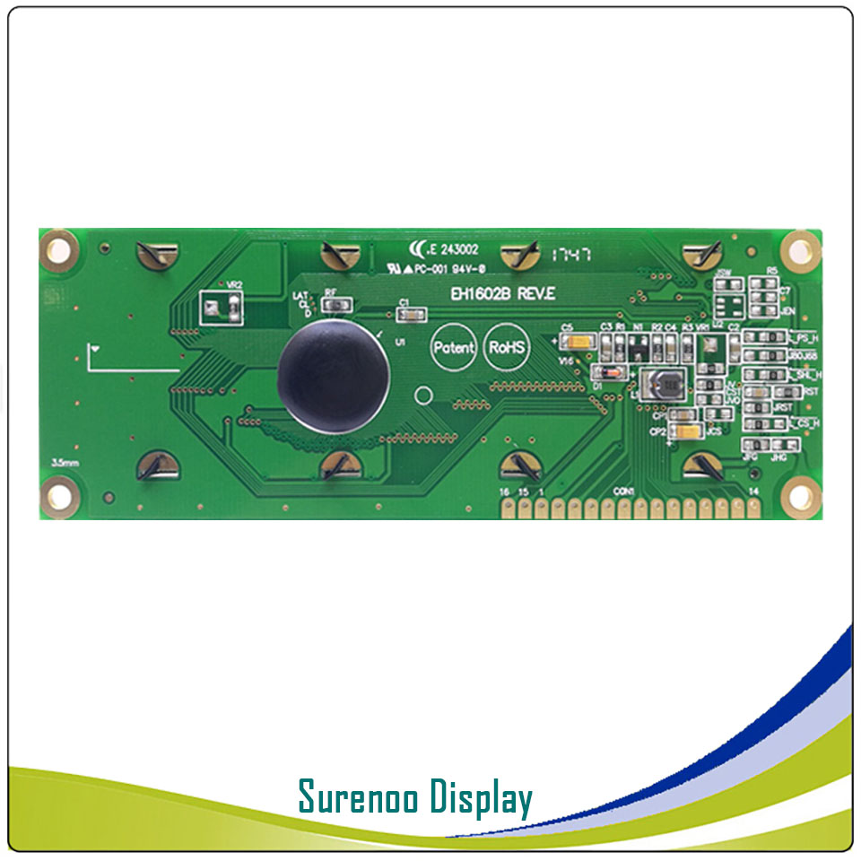 Real OLED Display, Military Level Larger 1602 162 Character LCD Module Screen LCM build in WS0010, Support Serial SPI-in LCD Modules from Electronic Components & Supplies    3