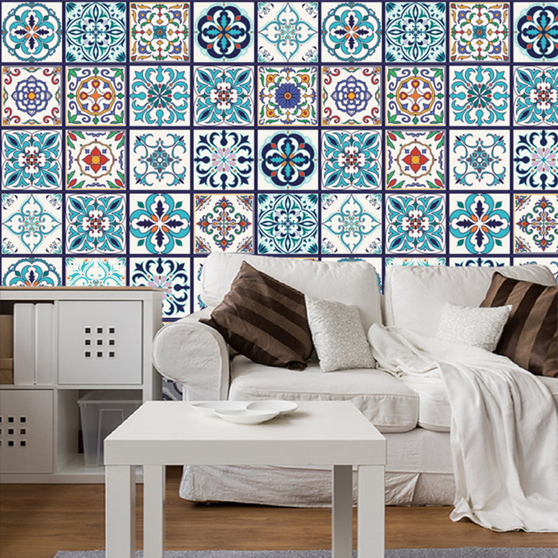 5 Pcs Arabism Self Adhesive Wall Sticker Waterproof Kitchen Wall Tile Stickers