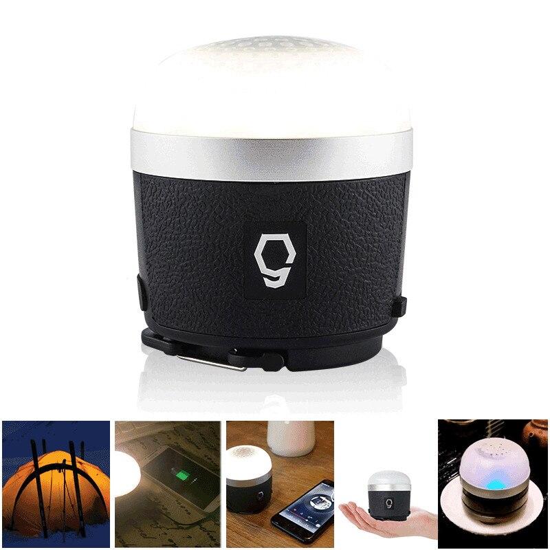 SUNREI CC musique S 3 en 1 haut-parleur bluetooth Camping lanterne lampe USB IPX4 étanche lampe de secours extérieure Portable tente lumière