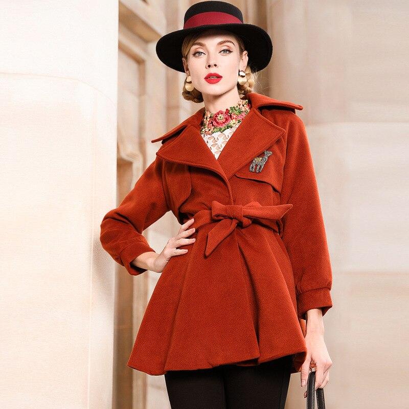 Coréenne Manteaux Dames Pardessus De Élégant 4xl Manteau D'hiver Taille Color Plus Mode 2018 Vêtements Style Femmes Femme 5xl Caramel Piste Laine La x4Hw8OHZ