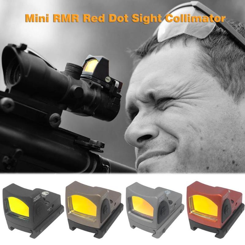 Mini RMRNew point rouge collimateur de vue G portée de vue adaptée pour 20mm Weaver Rail en aluminium forgé CR2032 batterie noir Camel Orange